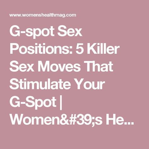 from Harry hit g spot sex