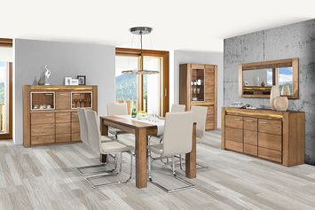 VELVET SZYNAKA Dining room furniture set. Modern design and perfect execution are ideal solution for most demanding users. This set is available in oak rustical colour. Polish Szynaka Modern Furniture Store in London, United Kingdom #furniture #polish #szynaka #diningroom