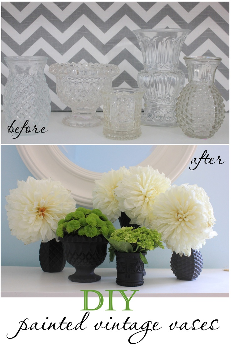 DIY painted vases  white instead of black