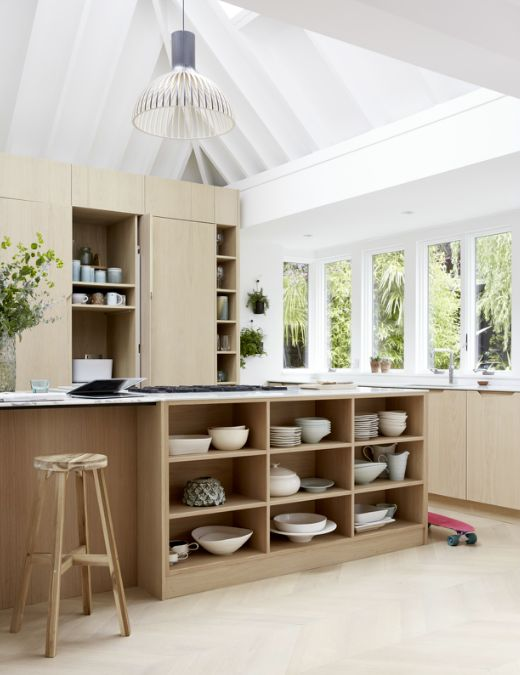 This Relaxed Wooden Kitchen Makes A Pitched Roof The Star Attraction With  Sleek Cabinets And A