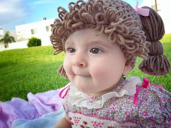 cabbage patch kid wig/hat
