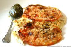 Filetti di sogliola con pomodori al gratin