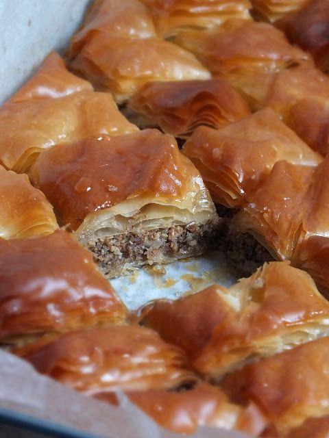 smakołyki alergika: baklava bez orzechów na Tłusty Czwartek