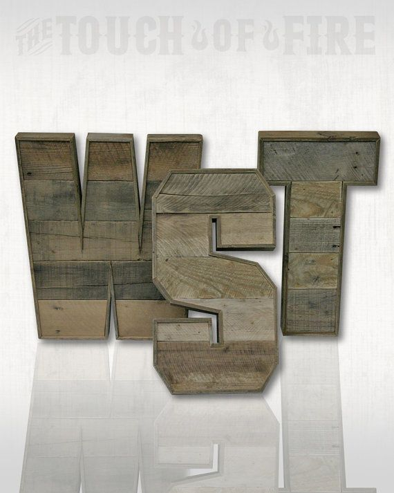 Pallet Letters. A to Z. Rustic Letters. RusTank by TheTouchofFire