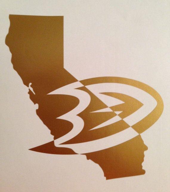 Anaheim Ducks Nation California NHL Mighty Ducks Vinyl Decal