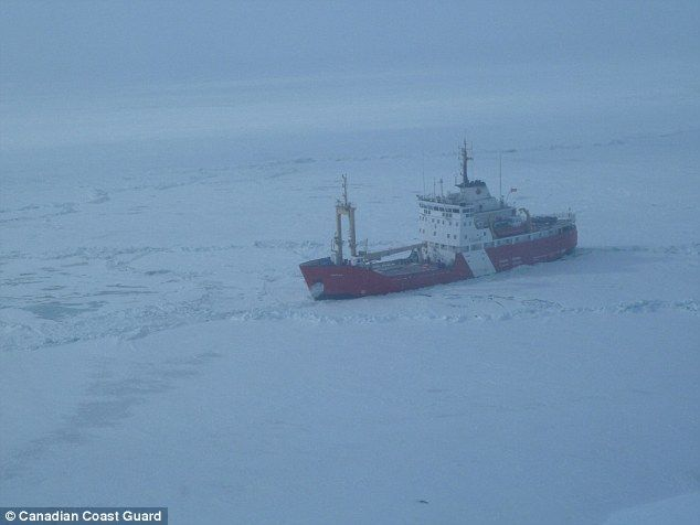 The real deal: Canada's coast guard then sent out the Griffon, a much larger icebreaker, w...