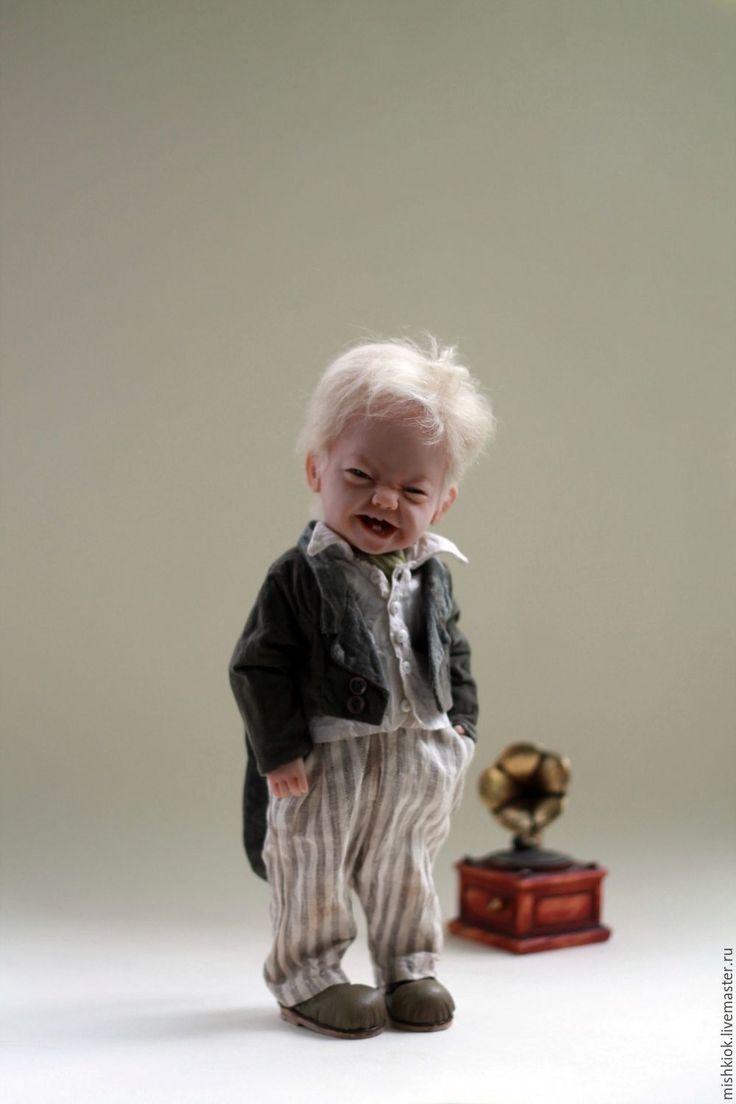 Купить Озорник. Авторская кукла. - авторская кукла, полушарнирная кукла, озорник, малыш, мальчик кукла