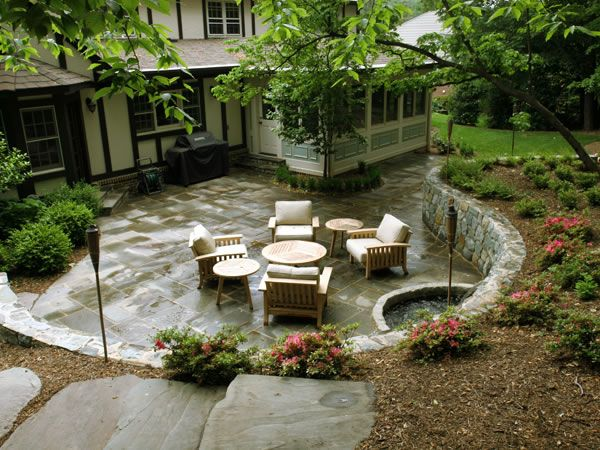 land art design northern va design build landscaping company - Patio Wall Design