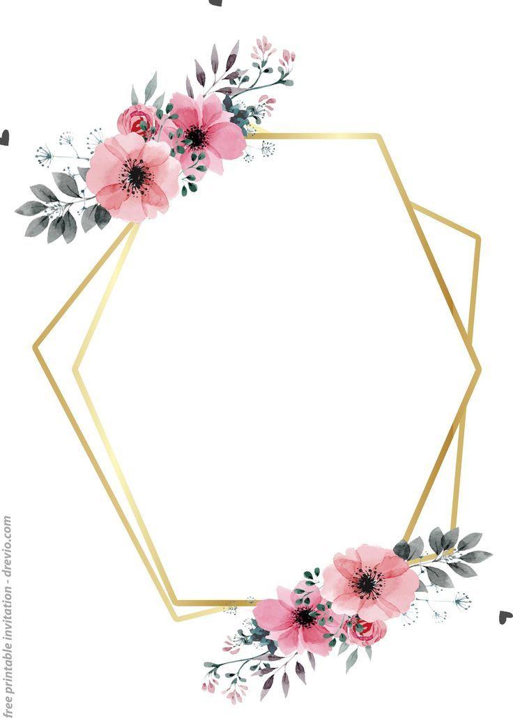 24 Kostenlose Druckbare Blumen Aquarell Einladungsvorlagen Free Printable Birthday Invitations Free Printable Invitations Free Printable Wedding Invitations