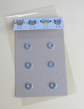 glue washers to card stock to display magnets