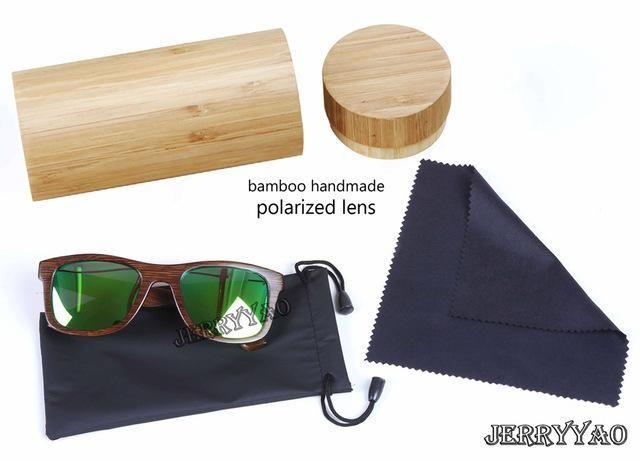 BerWer Bamboo Sunglasses with UV400 Lenses