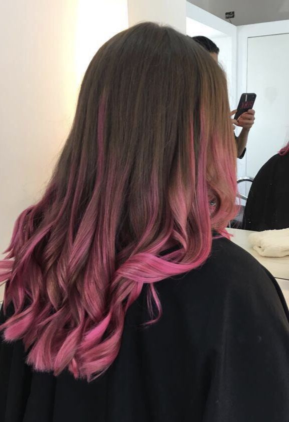 Pink Pinkhairs Pink Hair Highlights Dark Pink Hair Pink Hair