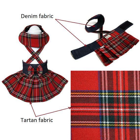 Red tartan dog clothes, Tartan dog pet skirt, Dog clothes small, Dog clothes red, Dog pet clothes, Tartan dog dress, Small dog clothes, Dog dresses, Dog Dress Design and Made by SmallDogFashion This listing is for 1 pcs dog skirt! Please measure your pet!!!!! every dog is different :)