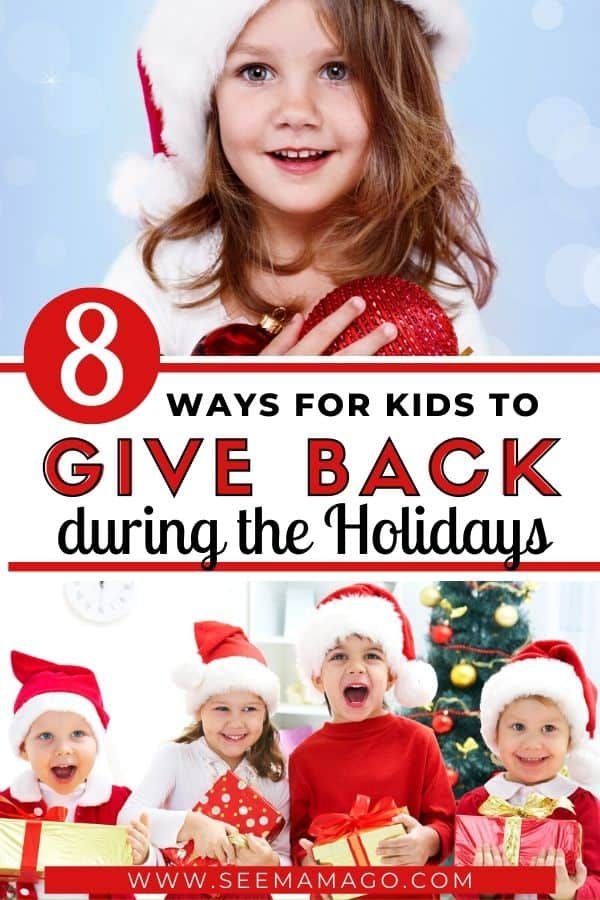Teaching Kids To Give Back During The Holidays Can Show Them There S More To The Holidays Than Just Gifts Get Y In 2020 Before Baby Infant Activities Kid Volunteering