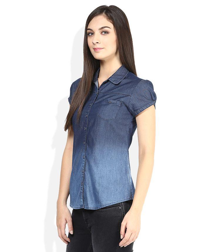 Wrangler Blue Solids Shirt