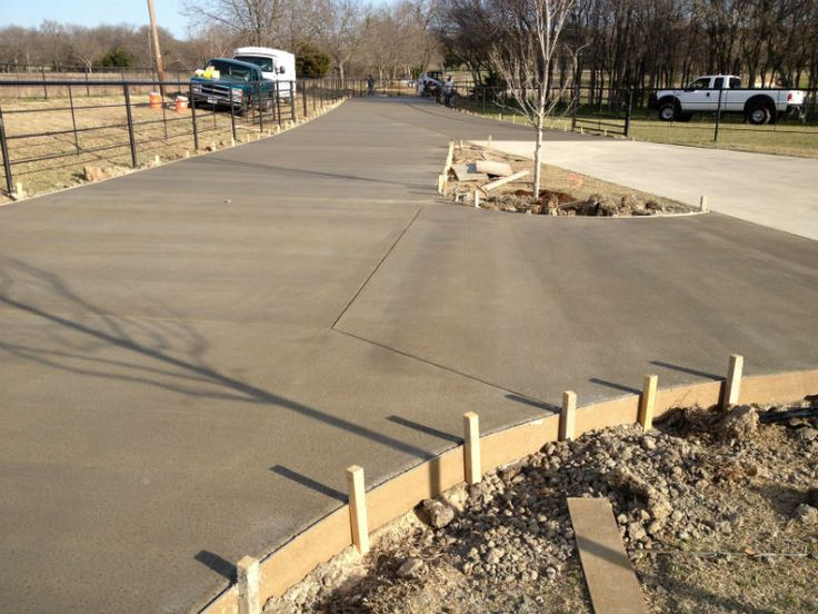 17 best images about concrete on pinterest dance floors for How to pour a concrete driveway