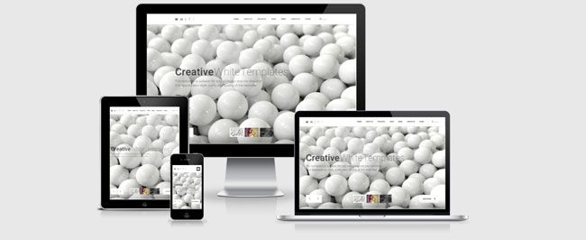 Website: White - Responsive Bootstrap Website Theme (HTML5, CSS3, JS)