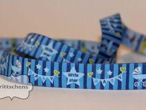 Webband -  Little Baby Star - blau - 1m