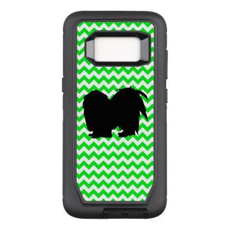 Irish Green Chevron with Shih Tzu OtterBox Defender Samsung Galaxy S8 Case #chevron #samsung #galaxys8 #cases #protect