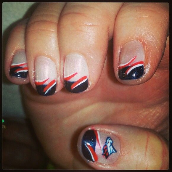 50 best nail art images on pinterest denver broncos nails denver broncos nail art nail design prinsesfo Gallery