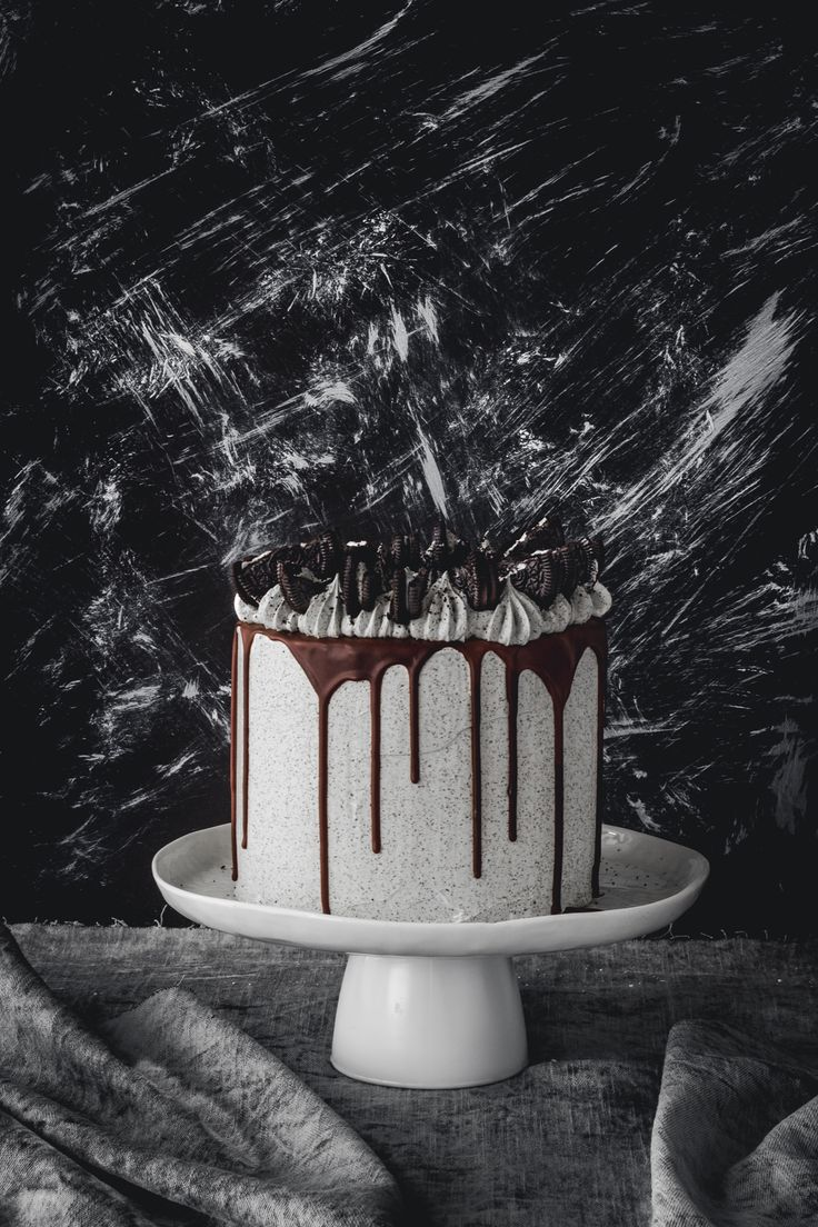 ... 4 layer cookies and cream cake with oreo and swiss meringue buttercream frosting chocolate drip ...