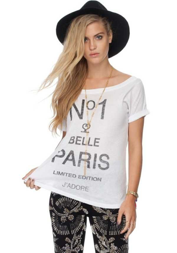 No1 Belle Paris Jadore Womens Top   We like the idea of being number one, No1 Belle Paris Jadore Womens blouse featuring a flattering boat neckline.. $35