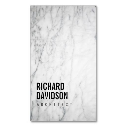 White Marble Modern and Professional Business Card Template for Architects, Interior Designers, Builders, Kitchen Designers, Countertops, Kitchen & Bath Construction and more. Click to personalize.