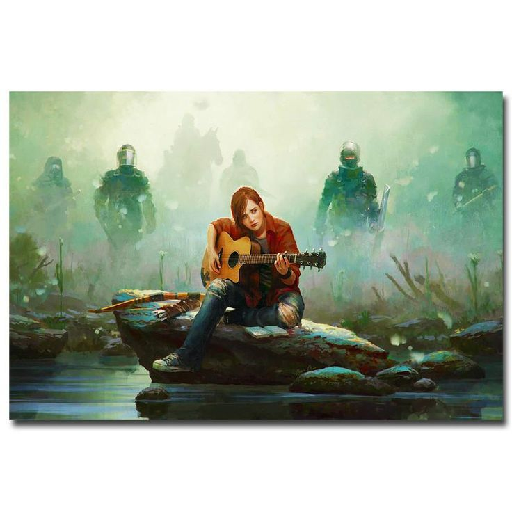 The Last of Us - Ellie and Guitar Silk Poster