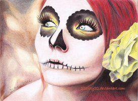 Sugar Skull Halloween Makeup | deviantART: More Like Sugar Skull Makeup face paint Tutorial by ...