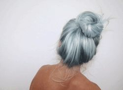 pretty hair special pastel Alternative pastel hair bun pretty hair colored hair dyed hair hairstyle hair dye ponytail pastel goth silver hair colorful hair hair bun grey hair pastel girl hair updo