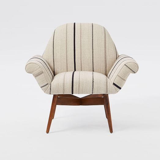 Orly Dhurrie Upholstered Chair   West Elm