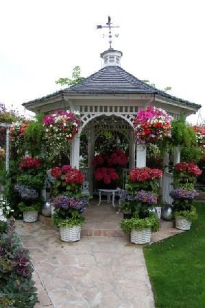 Beautiful Flower Gardens With Gazebos