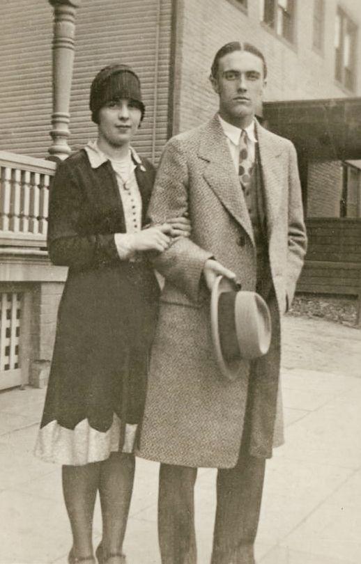Vintage Photograph Handsome Couple Philadelphia 1930