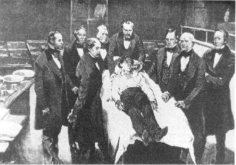 1846-First surgery with anesthetic  30 September 1846, Morton administered diethyl ether to a patient for a dental extraction. Two weeks later, Morton became the first to publicly demonstrate the use of diethyl ether as a general anesthetic at Massachusetts General Hospital.