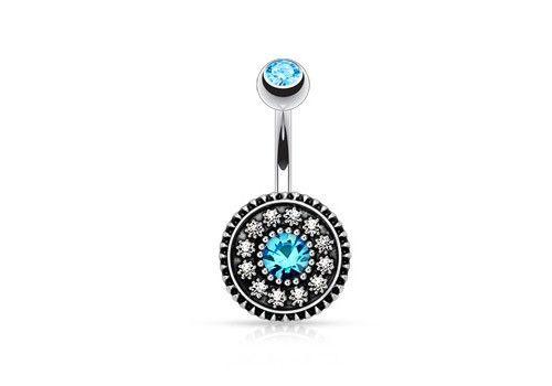 PIERCING NOMBRIL VINTAGE PIERRES BLEUES ET BLANCHES http://www.aiapiercing.com/piercing-nombril/fantaisie/piercing-nombril-vintage-pierres-bleues-et-blanches Bijou pour le nombril en acier chirurgical. Cet accessoire au design féérique accompagnera parfaitement vos tenues vintage. #piercing #turquoise #vintage