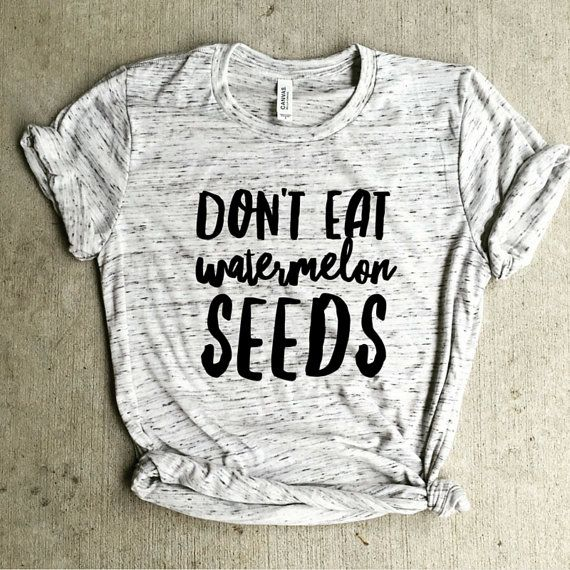NOTE! We are currently out of small unisex BUT purchase this listing in a womens large and they have the exact same measurements...perfect for your growing belly! https://www.etsy.com/listing/471732527/dont-eat-watermelon-seeds-preggersshirt?ref=shop_home_active_1 Please read current turn around time in shop announcements! If your order needs to be rushed...please purchase this listing with order https://www.etsy.com/listing/468635351/rush-my-order?ref=shop_home_active_1 This is the SOFTE...
