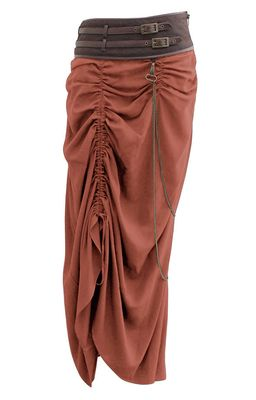 Check out this item on The Violet Vixen Belted Heart Burner Steampunk Tan Skirt #thevioletvixen