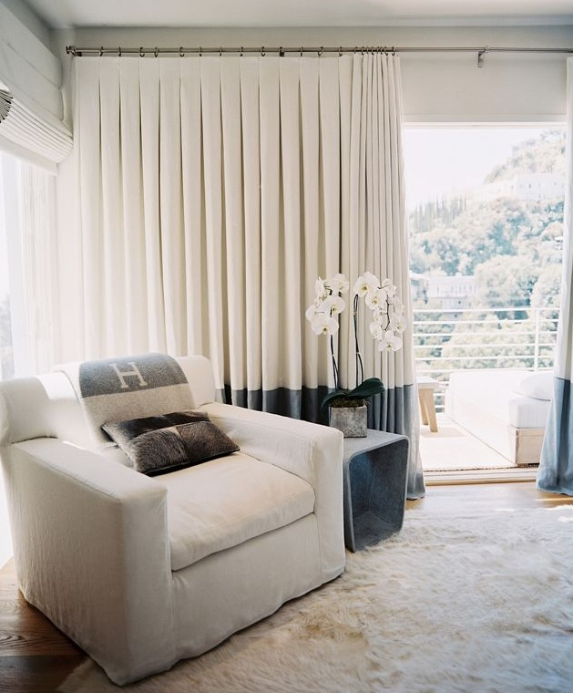 gray and ivory - drapes match the hermes! | Interiors