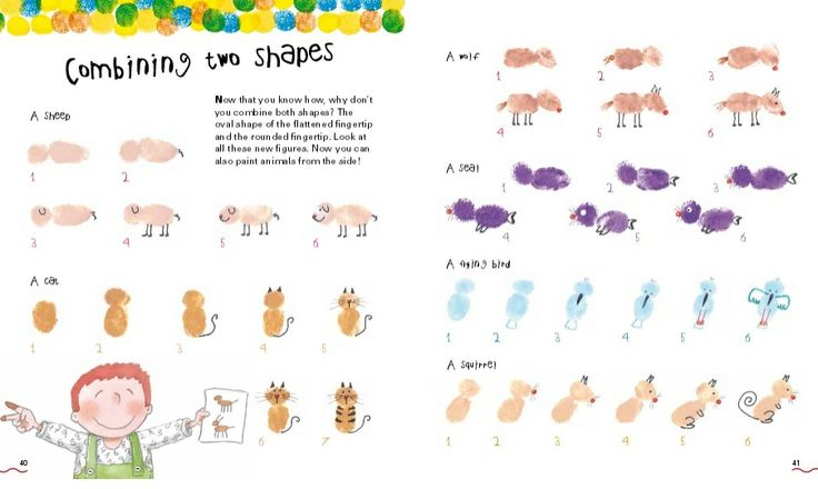 Many ideas with your finger prints with our title FINGER PAINTING! http://www.mercedesros.com