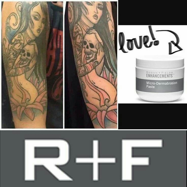 Rodan and Fields brighten your tattoo, it will look like your ink has been touched up! Microdermabrasion Paste by Rodan and Fields. KDRussell1.myrandf.com