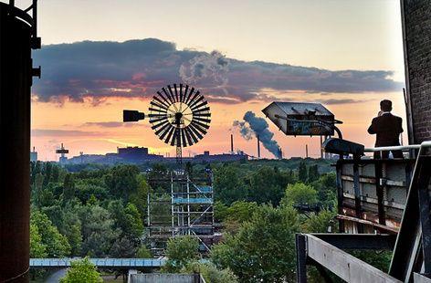 Blick vom Hochofen 5 im Landschaftspark Duisburg Nord