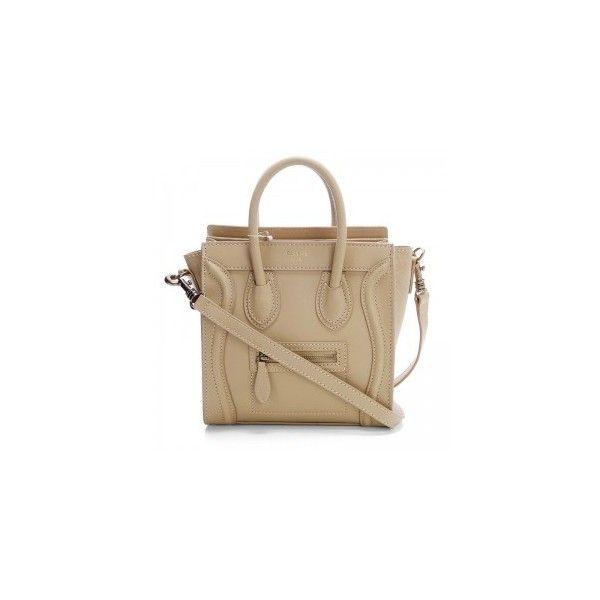 Celine Nano Bag ❤ liked on Polyvore featuring bags, handbags, brown bag, brown purse and brown handbags