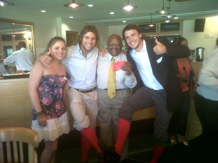 The day I got to share with the Archbishop Tutu the story of the shoOops and give him a pair. Great to share this moment with Ronan and Ciara