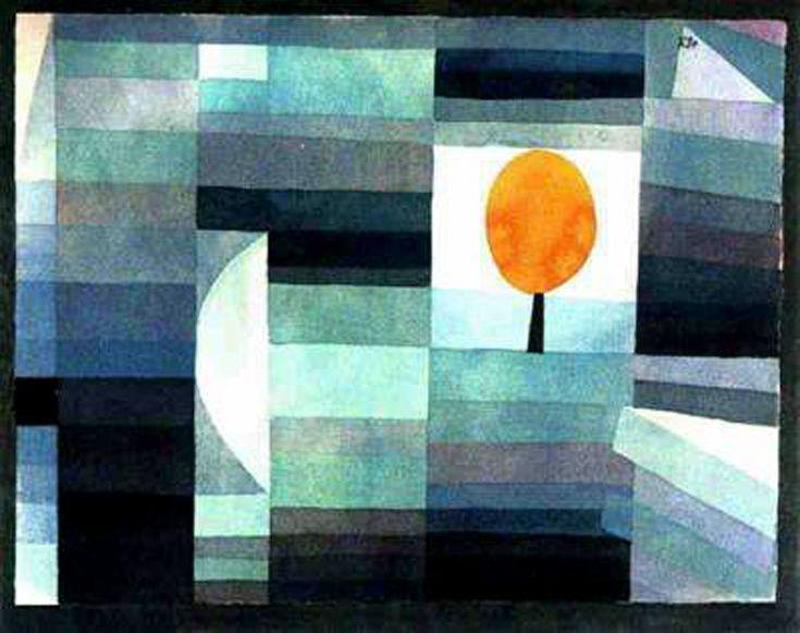 Paul Klee  O Mensageiro de Outono  |  (, obra, reprodução, cópia, pintura).
