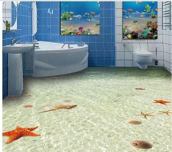 173 best pizos images on pinterest bathroom bathrooms and floor design for Papel pintado paisajes