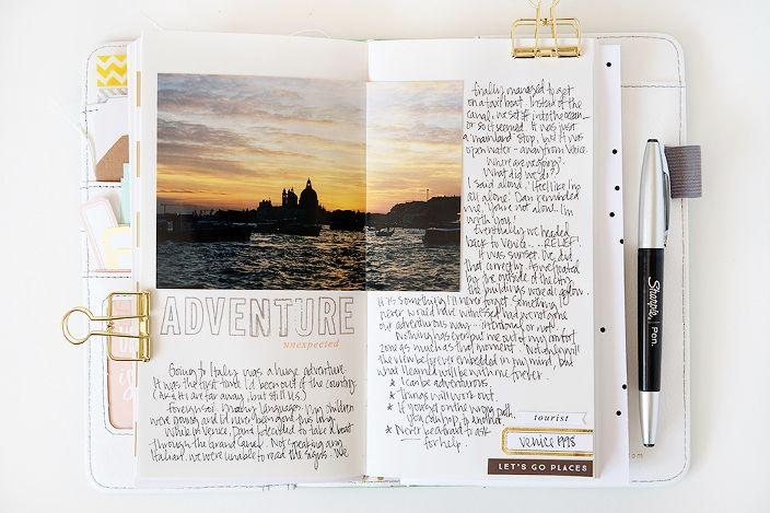 Traveler's Notebook layout - Kerri Bradford