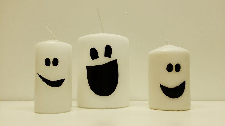 Haamuperhe | lasten | askartelu | lapset | syksy | halloween | kynttilä | haamu | aave | teippi | ilmastointiteippi | helppo | koti | DIY ideas | kid crafts | ghost | candle | family | duck tape | Pikku Kakkonen