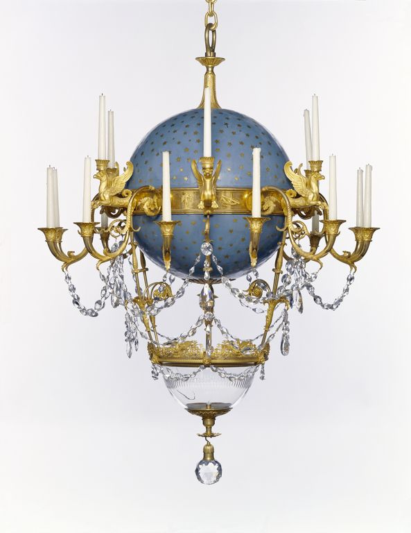 Believe it or not this French hot air balloon inspired chandelier once  housed a goldfish in the bottom glass bowl. Yes, a live goldfish. - 678 Best Light Images On Pinterest Candlesticks, Antique