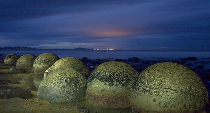 les-moeraki-boulders Nouvelle Zelande
