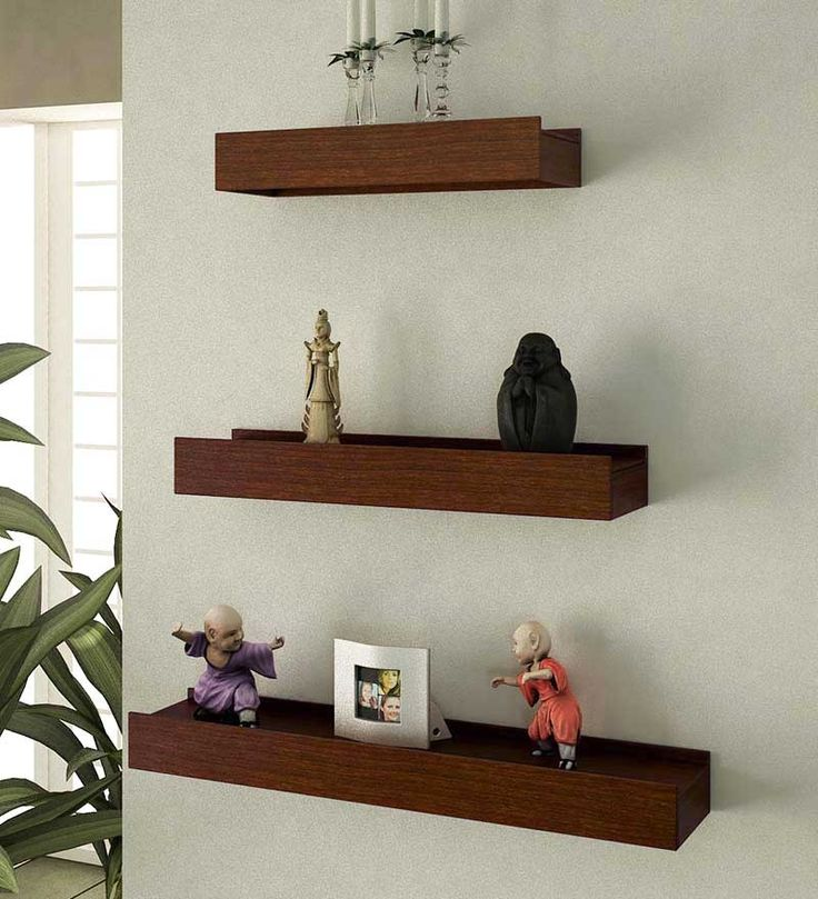 Mango Wood Wall Shelves - Set of 3 by Home Sparkle Online - Wall Shelves - Home Decor - Pepperfry Product
